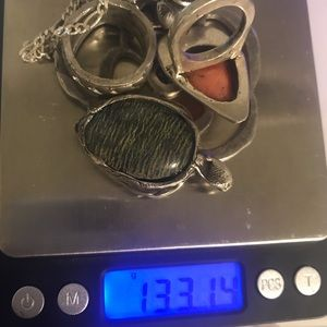 133.14 grams of sterling silver jewelry lot